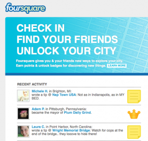 Foursquare and Gowalla Checkins for Small Business Owners