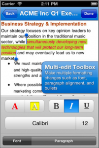 Multi-tasking changes in the text!
