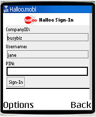 halloo.mobi sign-in