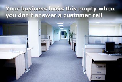 Your business looks this empty when you don't answer a customer call
